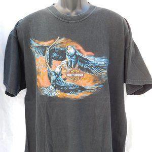HARLEY DAVIDSON BLACK EAGLE PRINT VINTAGE SHIRT XL